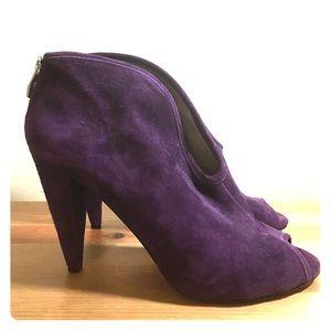 Vince Camuto Amber peep toe booties, purple